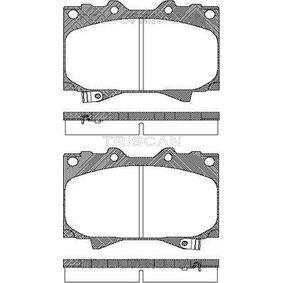 Bremsbelagsatz, Scheibenbremse Breite: 119,6mm, Höhe: 78mm, Dicke/Stärke: 15,5mm mit OEM-Nummer 04466 60140