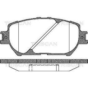 Bremsbelagsatz, Scheibenbremse Breite: 131,4mm, Höhe: 58,5mm, Dicke/Stärke: 17,3mm mit OEM-Nummer 04465-YZZDZ