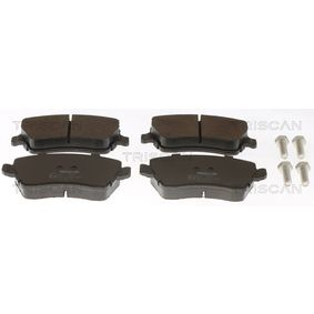 Bremsbelagsatz, Scheibenbremse Breite: 116,4mm, Höhe: 52,5mm, Dicke/Stärke: 17,3mm mit OEM-Nummer 41060-00Q0K