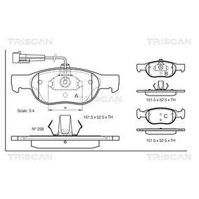 Bremsbelagsatz, Scheibenbremse Breite: 151,5mm, Höhe: 52,5mm, Dicke/Stärke: 17,6mm mit OEM-Nummer 9 947 600