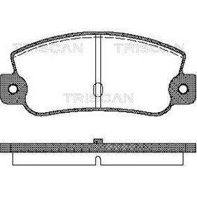 Bremsbelagsatz, Scheibenbremse Breite: 108,8mm, Höhe: 47mm, Dicke/Stärke: 12mm mit OEM-Nummer 5888939