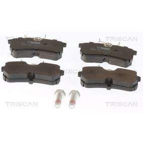 Brake Pad Set, disc brake Width: 87,2mm, Height: 42,5mm, Thickness: 14,5mm with OEM Number 1107698