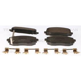 Brake Pad Set, disc brake 8110 18017 Picanto (SA) 1.1 CRDi MY 2017