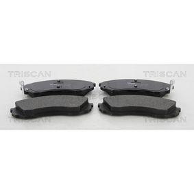 Bremsbelagsatz, Scheibenbremse Breite: 164,5mm, Höhe: 63,4mm, Dicke/Stärke: 17,6mm mit OEM-Nummer 581014DA00
