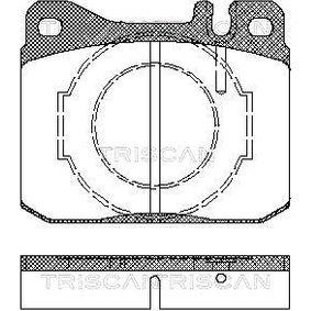 Bremsbelagsatz, Scheibenbremse Breite: 89,7mm, Höhe: 73,8mm, Dicke/Stärke: 17,5mm mit OEM-Nummer A 000 420 9520