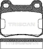 TRISCAN  8110 23995 Bremsbelagsatz, Scheibenbremse Breite: 61,7mm, Höhe: 54,25mm, Dicke/Stärke: 15,5mm