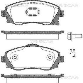 Bremsbelagsatz, Scheibenbremse Breite: 131,6mm, Höhe: 55,5mm, Dicke/Stärke: 16,8mm mit OEM-Nummer 93176114