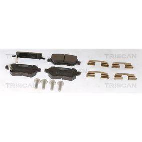 Brake Pad Set, disc brake 8110 24019 Astra Mk5 (H) (A04) 1.7 CDTi MY 2007