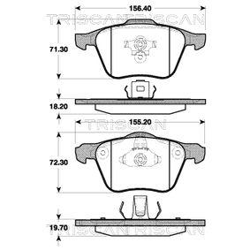 Bremsbelagsatz, Scheibenbremse Breite: 156,4mm, Höhe: 71mm, Dicke/Stärke: 18,2mm mit OEM-Nummer 30769122