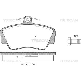 Brake Pad Set, disc brake Width: 110mm, Height: 67,5mm, Thickness: 18mm with OEM Number 3344787