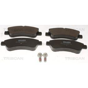Brake Pad Set, disc brake 8110 28029 206 Hatchback (2A/C) 2.0 HDI 90 MY 2009