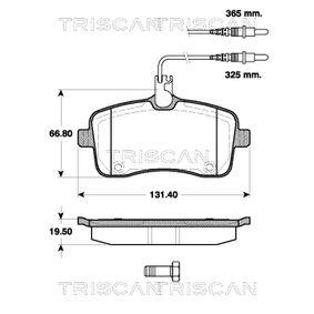 Bremsbelagsatz, Scheibenbremse Breite: 131,4mm, Höhe: 66,8mm, Dicke/Stärke: 19,5mm mit OEM-Nummer 425 332
