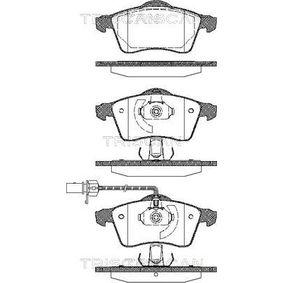 Bremsbelagsatz, Scheibenbremse Breite: 156,4mm, Höhe: 68,5mm, Dicke/Stärke: 20,3mm mit OEM-Nummer 7D0 698 151F