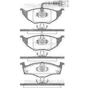 Bremsbelagsatz, Scheibenbremse Breite: 141,8mm, Höhe: 49,8mm, Dicke/Stärke: 14,3mm mit OEM-Nummer 8Z0698151
