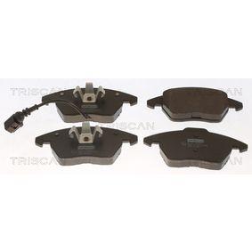 Kit de plaquettes de frein, frein à disque Hauteur 1: 71,4mm, Hauteur 2: 66,0mm, Épaisseur: 20,3mm avec OEM numéro 8J0-698-151-C