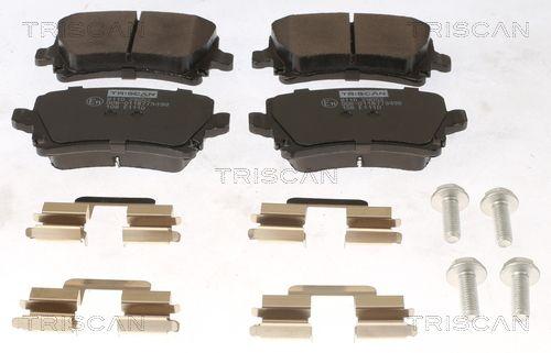 TRISCAN  8110 29052 Bremsbelagsatz, Scheibenbremse Breite: 105,5mm, Höhe: 56mm, Dicke/Stärke: 17mm