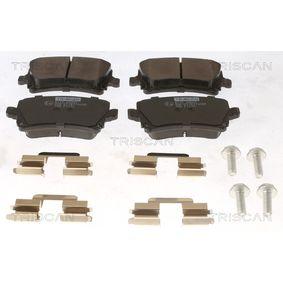 Bremsbelagsatz, Scheibenbremse Breite: 105,5mm, Höhe: 56mm, Dicke/Stärke: 17mm mit OEM-Nummer 8E0-698-451-M