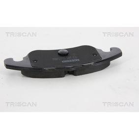 Bremsbelagsatz, Scheibenbremse Breite: 155,2mm, Höhe: 72,9mm, Dicke/Stärke: 20mm mit OEM-Nummer 8E0698151C