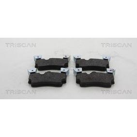 TRISCAN Bremsbelagsatz, Scheibenbremse 8110 29075 für AUDI Q7 (4L) 3.0 TDI ab Baujahr 11.2007, 240 PS
