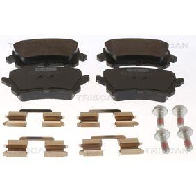 Bremsbelagsatz, Scheibenbremse Breite: 105,5mm, Höhe: 56,4mm, Dicke/Stärke: 17mm mit OEM-Nummer 3AA-698-451