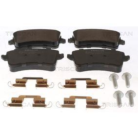 Bremsbelagsatz, Scheibenbremse Breite: 116,4mm, Höhe: 58,8mm, Dicke/Stärke: 17,5mm mit OEM-Nummer 8K0698451D