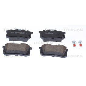 Bremsbelagsatz, Scheibenbremse Breite: 87mm, Höhe: 53mm, Dicke/Stärke: 17mm mit OEM-Nummer 1K0 698 451 A