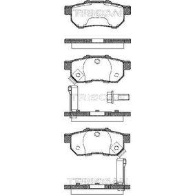 Комплект спирачно феродо, дискови спирачки 8110 40003 Jazz 2 (GD_, GE3, GE2) 1.2 i-DSI (GD5, GE2) Г.П. 2007