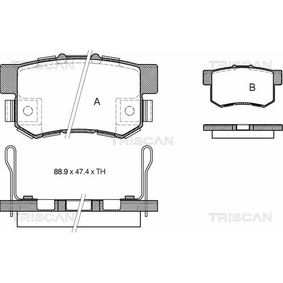 Brake Pad Set, disc brake Width: 88,9mm, Height: 47,4mm, Thickness: 15,4mm with OEM Number 43022- SX0-A52