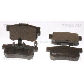 2003 Honda CR-V Mk2 2.0 Brake Pad Set, disc brake 8110 40058