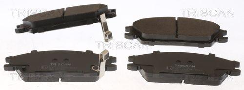 TRISCAN  8110 43023 Bremsbelagsatz, Scheibenbremse Breite: 127,5mm, Höhe: 49,1mm, Dicke/Stärke: 16mm