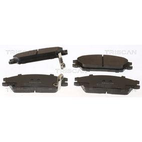 Bremsbelagsatz, Scheibenbremse Breite: 127,5mm, Höhe: 49,1mm, Dicke/Stärke: 16mm mit OEM-Nummer 581011CA00