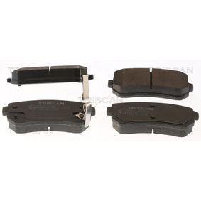 Brake Pad Set, disc brake Width: 93,1mm, Height: 41mm, Thickness: 15,2mm with OEM Number 58302-4WA10