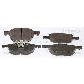 Bremsbelagsatz, Scheibenbremse Breite: 155,2mm, Höhe: 62,5mm, Dicke/Stärke: 18mm mit OEM-Nummer 3M512K021-AB