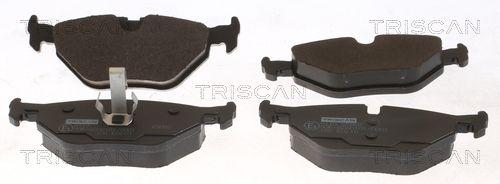 TRISCAN  8110 65002 Bremsbelagsatz, Scheibenbremse Breite: 123,1mm, Höhe: 45mm, Dicke/Stärke: 17mm