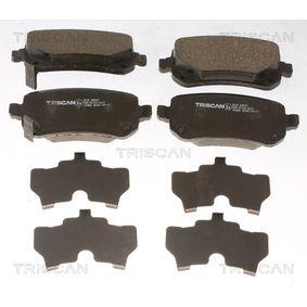 TRISCAN  8110 80547 Bremsbelagsatz, Scheibenbremse Breite: 116,6mm, Höhe: 52,8mm, Dicke/Stärke: 16,8mm