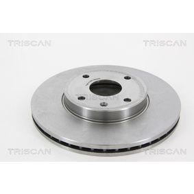 Bremsscheibe Bremsscheibendicke: 24mm, Lochanzahl: 5, Ø: 278mm mit OEM-Nummer 96329364