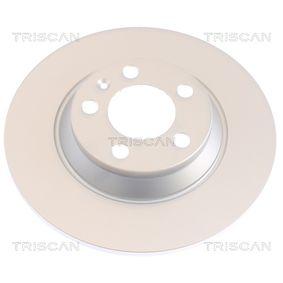 Renault Twingo 2 1.2 Turbo (CN0C, CN0F) Bremsscheiben TRISCAN 8120 25107 (1.2 Turbo Benzin 2014 D4F 782)