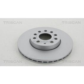 Bremsscheibe Bremsscheibendicke: 25mm, Lochanzahl: 5, Ø: 288mm mit OEM-Nummer 1K0 615 301 K