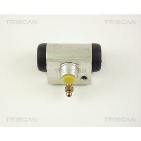 Radbremszylinder Ø: 17,5mm, Bohrung-Ø: 17,46mm mit OEM-Nummer 7701 047 838