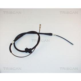 TRISCAN Seilzug, Feststellbremse 8140 29113 für AUDI 100 (44, 44Q, C3) 1.8 ab Baujahr 02.1986, 88 PS