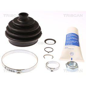 TRISCAN Faltenbalgsatz, Antriebswelle 8540 29808 für AUDI 90 (89, 89Q, 8A, B3) 2.2 E quattro ab Baujahr 04.1987, 136 PS