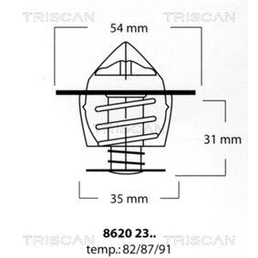 Thermostat, coolant with OEM Number 026.121.113
