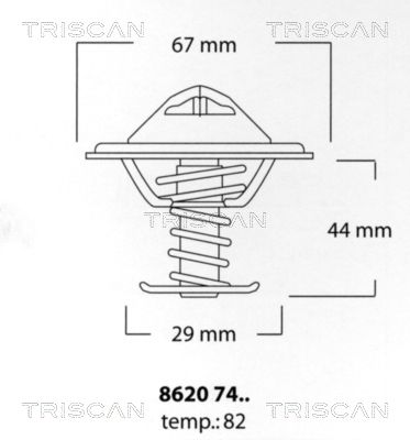 TRISCAN  8620 7482 Thermostat, coolant