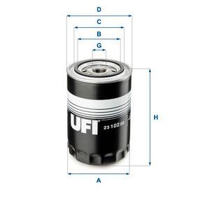 Ölfilter Ø: 96mm, Außendurchmesser 2: 72mm, Innendurchmesser 2: 62mm, Höhe: 145,5mm mit OEM-Nummer 5221313