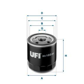 Oil Filter Ø: 75,0mm, Outer diameter 2: 71,5mm, Inner Diameter 2: 62,0mm, Height: 86,5mm with OEM Number 669 6776
