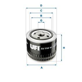 Ölfilter Ø: 87,0mm, Außendurchmesser 2: 71,5mm, Innendurchmesser 2: 61,5mm, Höhe: 73,5mm mit OEM-Nummer 897321