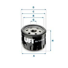 Ölfilter Ø: 76mm, Außendurchmesser 2: 71mm, Innendurchmesser 2: 61mm, Höhe: 61,5mm mit OEM-Nummer 834337-8