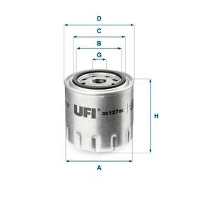 Ölfilter Ø: 96mm, Außendurchmesser 2: 72mm, Innendurchmesser 2: 62mm, Höhe: 96,5mm mit OEM-Nummer 692M-671-4AA