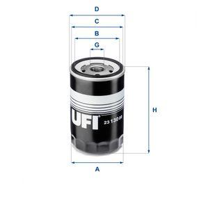 Ölfilter Ø: 76mm, Außendurchmesser 2: 71,5mm, Innendurchmesser 2: 63,5mm, Höhe: 120mm mit OEM-Nummer 070115561