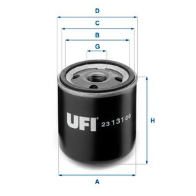 Ölfilter Ø: 76mm, Außendurchmesser 2: 71mm, Innendurchmesser 2: 61mm, Höhe: 92mm mit OEM-Nummer 16510 60B11